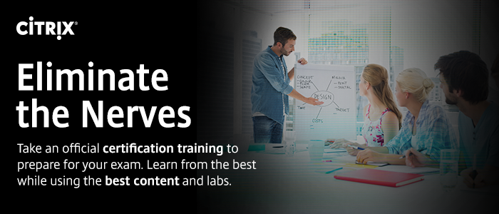 Eliminate the Nerves. Take an official certification training to prepare your exam. Learn from the best while using the best content and labs.